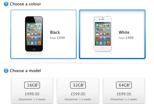 Screen shot 2011 10 07 at 8.48.57 AM 520x361 Apples day 1 pre order stock of iPhone 4S sold out in UK, now shipping 1 2 weeks