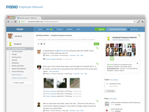 Screenshot Employee Network 520x390 Podio takes on Yammer with new Employee Networks