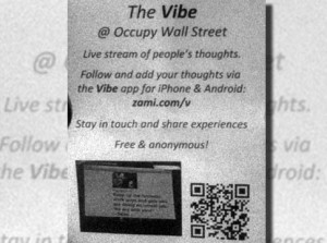 alg vibe poster 300x223 Self destructing and localized message app aids anti Wall Street protesters