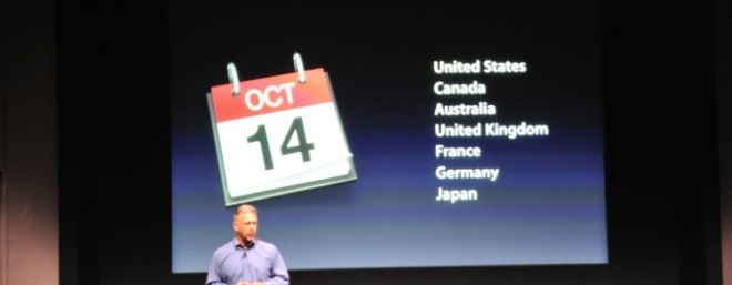iPhone 4S available from $199, pre-orders 7 October, available 14 October