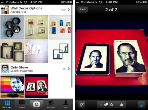 batch iphone 2 520x384 Batch for iPhone is a gorgeous app that lets you share a ton of photos quickly