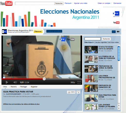 elecciones YT 520x465 Argentinas General Election: Also On Google