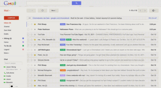 gmail new ui 3 520x286 Google to rollout a major facelift for Gmail
