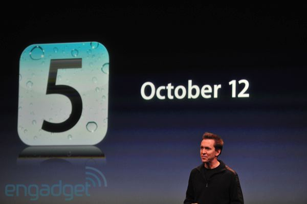 Apple's iOS 5: Official release on October 12th as a free update along with iCloud