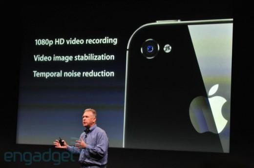 iphone5apple2011liveblogkeynote1467 520x345 Apple announces iPhone 4S: Same design, GSM/CDMA, A5 chip, 7x faster graphics, 8MP, 1080p Video