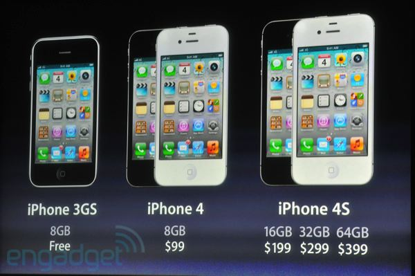 Apple drops price of iPhone 4 to $99, iPhone 3GS is free with contract
