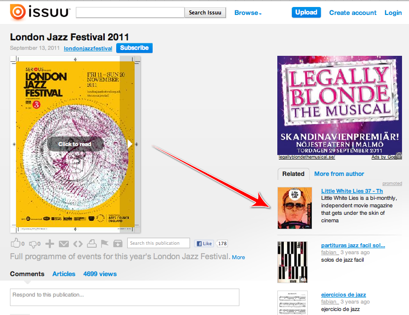 Issuu turns lets users turn their own print documents into online ads