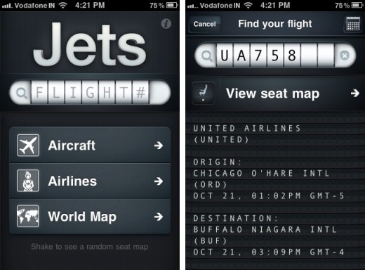 jets 1 520x384 Jets lets you pick out the best flight seats on your iPhone