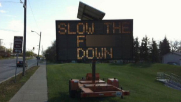11 Hilariously Hacked Road Signs