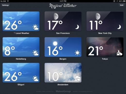 magical weather 1 520x390 Magical Weather brings stunningly beautiful weather forecasts to iPad