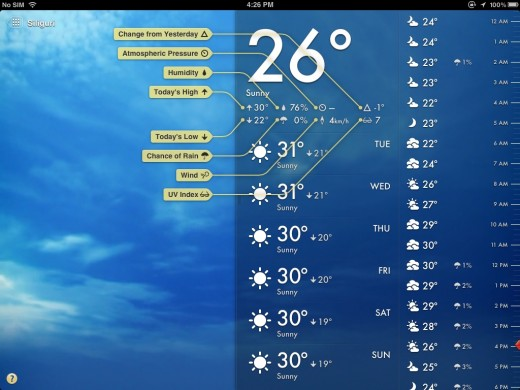 magical weather 2 520x390 Magical Weather brings stunningly beautiful weather forecasts to iPad