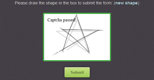 motioncaptcha1 Prove youre human on the Web by drawing shapes, not typing letters, with MotionCATPCHA