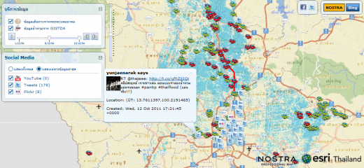 nostra map 520x240 As floods batter Thailand, its citizens turn to the Internet for help