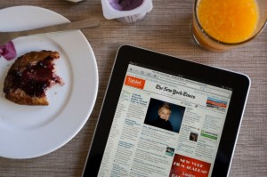 nyt on ipad for breakfast o 300x199 How mobile is forcing us to change the way we measure the Internet