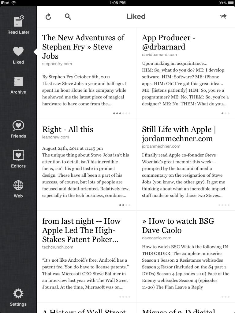 The Left Side Features A Nice Toolbar That Keeps Navigation Available In All  Of The Browsing Views And Provides Context For Where You Are In The App.