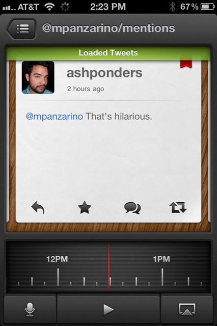 photo 57 Tweet Speaker is a crazy beautiful Twitter client that reads your tweets to you