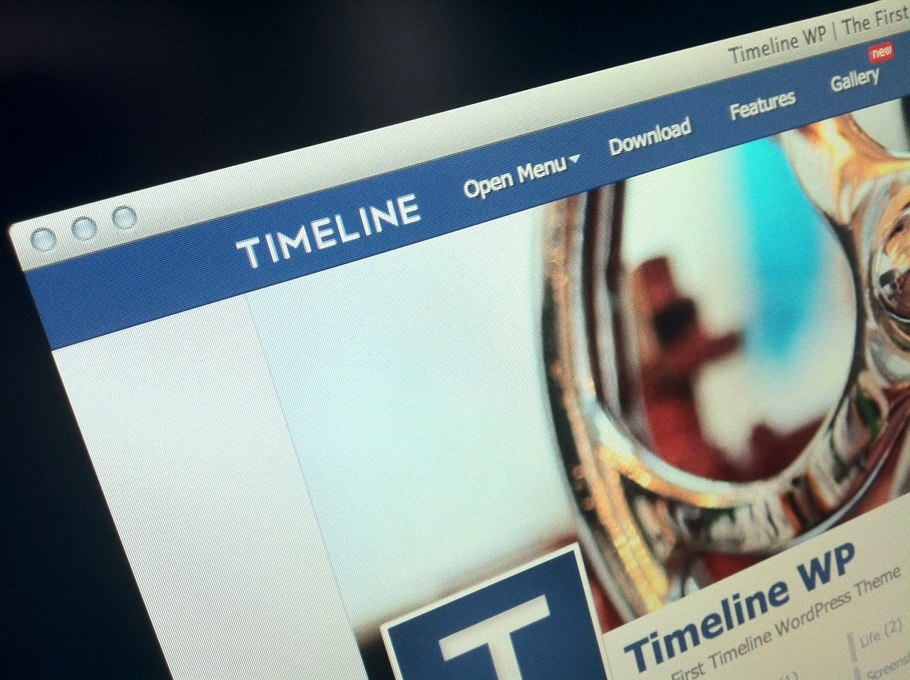 This WordPress theme is a slick way to turn your blog into Facebook's Timeline