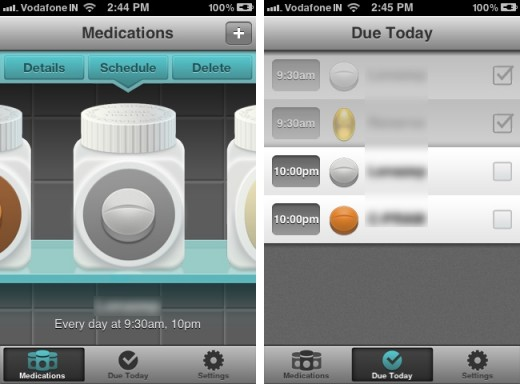 pillboxie 1 520x384 Pillboxie for iPhone reminds you to pop your pills…in style!