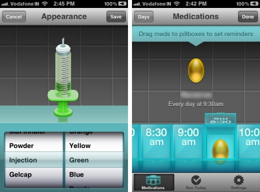 pillboxie 2 520x384 Pillboxie for iPhone reminds you to pop your pills…in style!