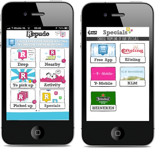 repudo Location based gifts service Repudo offers free apps at Apple Stores