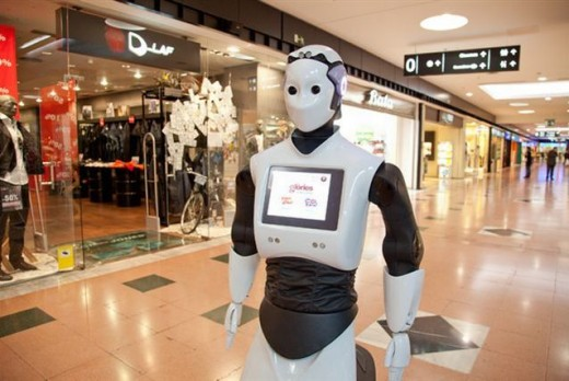 robot 520x348 Humanoid robots will be roaming Abu Dhabis malls next year