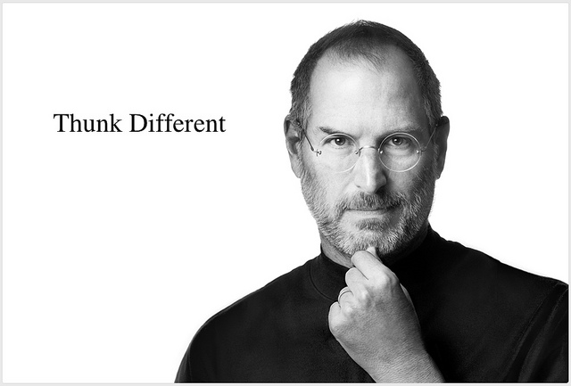 Over One Million Tributes to Steve Jobs shown in a word cloud