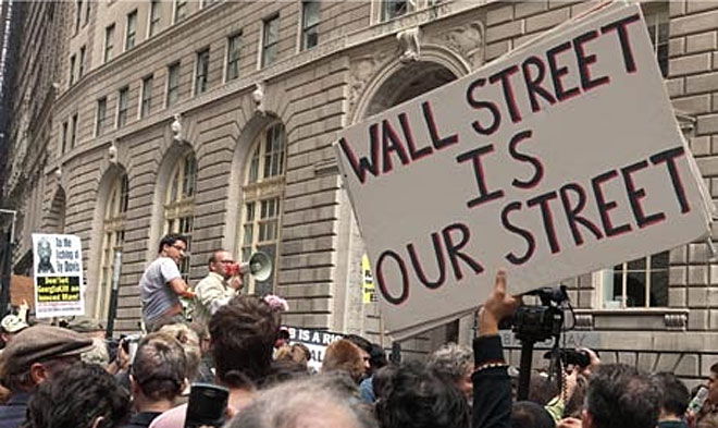 Self-destructing and localized message app aids anti-Wall Street protesters