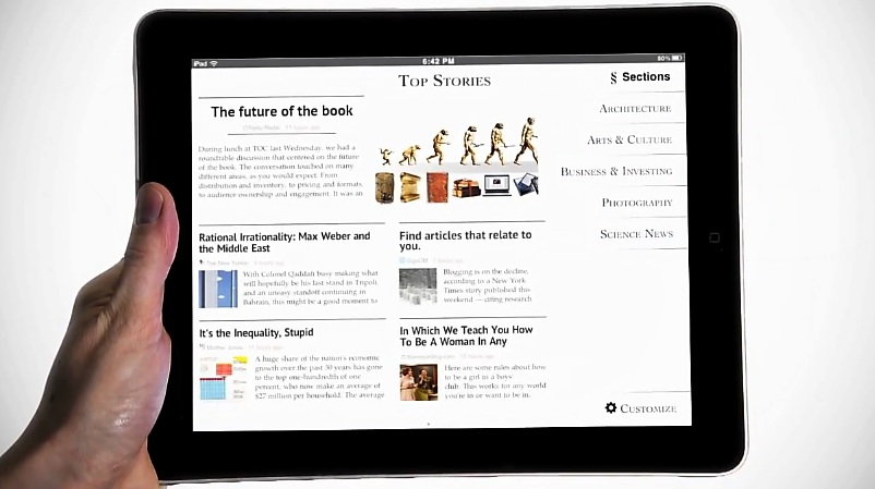 Zite, the slick iPad news reader, gets user profiles for easier device sharing