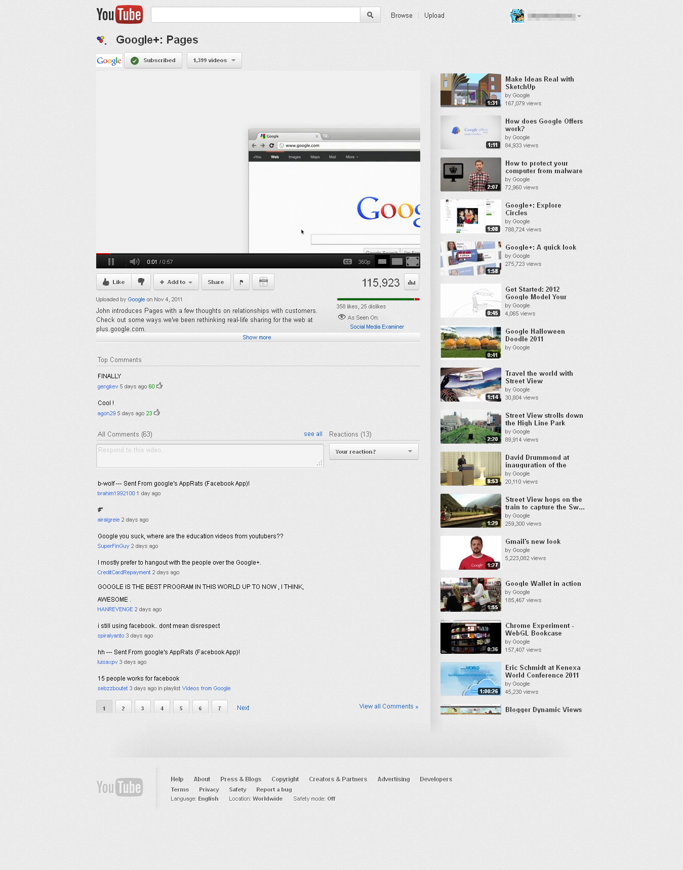 Google Youtube Music Key One Ups Streaming Music Services: YouTube Tests Redesign Highlighting Google+ Videos