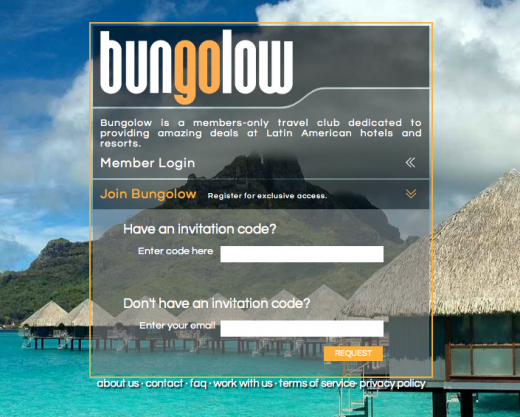 Bungolow 520x417 Bungolow launches invitation only travel deal club for Latin America