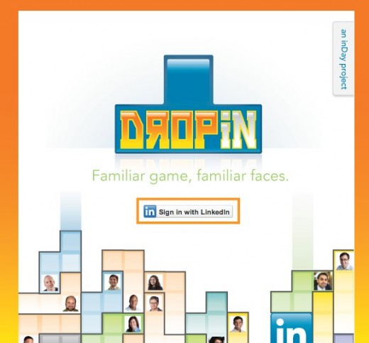 DropIn Play DropIn with your connections on LinkedIn 1 520x483 Play Tetris using your LinkedIn connections with DropIn
