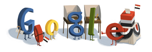 EgyptGoogleDoodle Google launches a set of tools for Egyptians to use during parliamentary elections