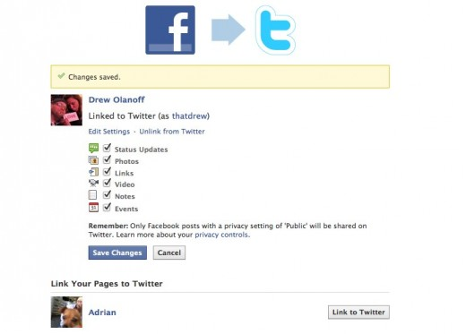 How to link your Facebook profile to Twitter - The Next Web