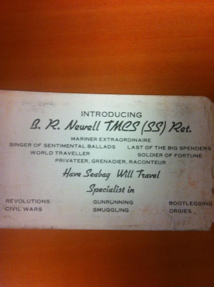Gunrunner, Raconteur, Mariner Extraordinaire: The Best Business Card of All Time