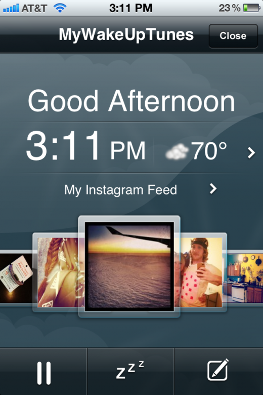IMG 2375 520x780 MyWakeUpTunes wakes you up with your favorite song and Instagram photos