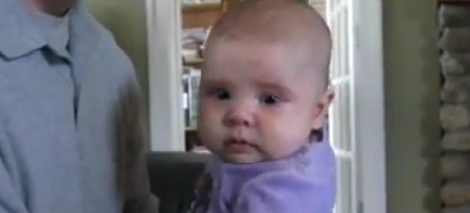 "Crying baby is ""hypnotized"" by the Notorious B.I.G."