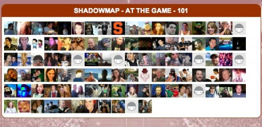 ShadowMap At the game SportShadow 520x252 SportShadow uses foursquares API to tell you whos at the game