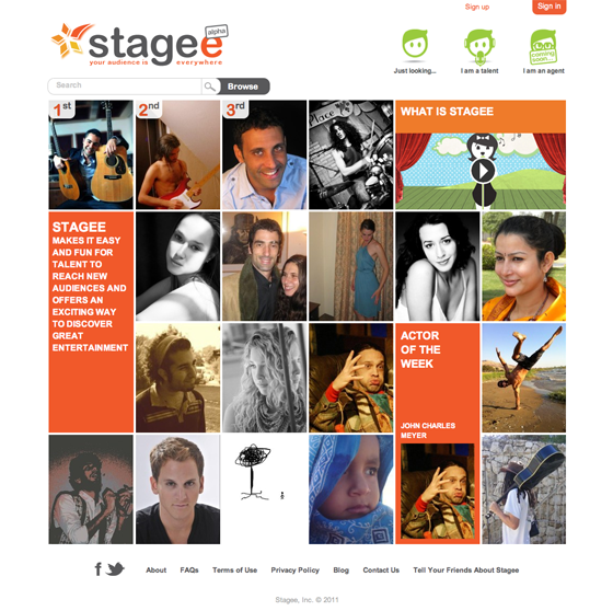 Stagee Stagee sets out to help talent find an audience and industry