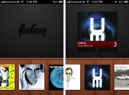 audium 520x384 Audium for iPhone is a beautiful app that adds gestures to your music
