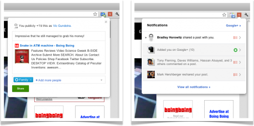 chrome extensions 520x258 Google debuts slick YouTube player for Google+ and wider Chrome integration