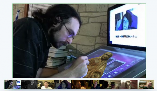 creepyjesus3 520x303 Meet the most talented Google+ Hangout artist alive, Cliff Roth