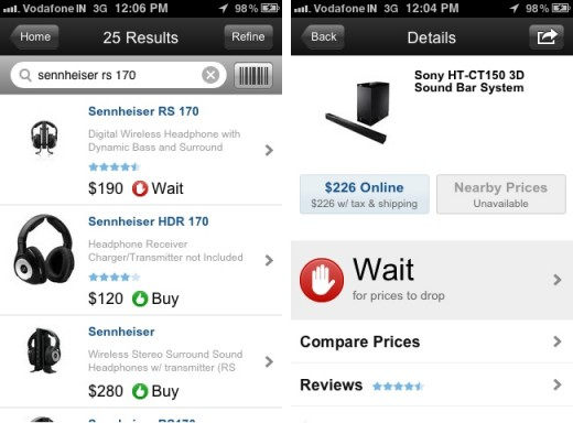 decide iphone 520x384 Decide's iPhone App Helps You Buy Gadgets When the Price is Right