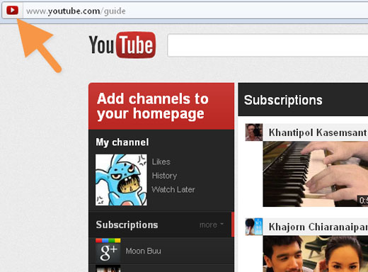 favicon YouTube tests redesign highlighting Google+ videos, subscriptions & more