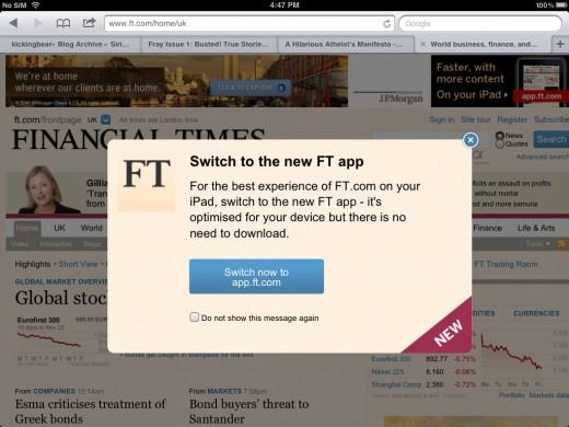 Web alert app