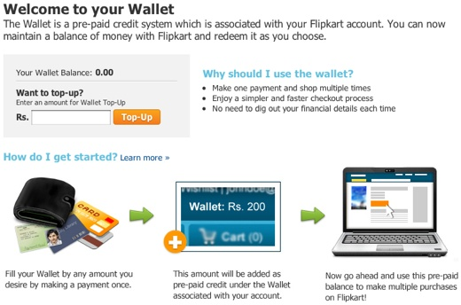 flipkart india wallet Indian e commerce website Flipkart adds prepaid Wallet feature