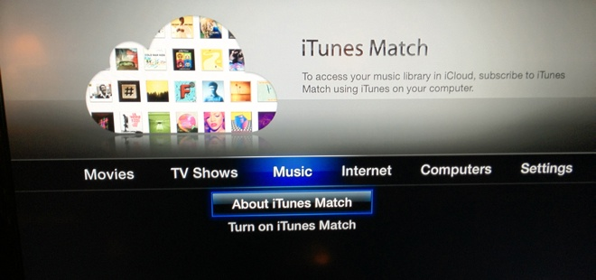iTunes Match makes a beta appearance on the Apple TV