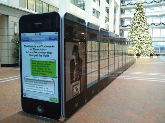 The U.S. Patent Office honors Steve Jobs with a beautiful exhibit