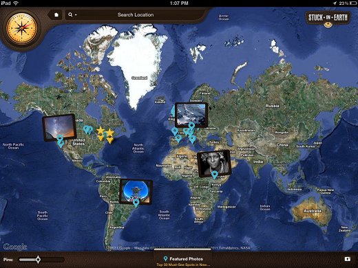 An ipad app to travel the world clicking on a photo on the map you enter into a gorgeous gallery of photos taken in that city or country the photos are selected using an algorithm based gumiabroncs Gallery