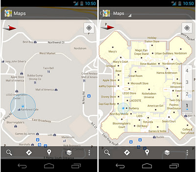 moa before after Google Maps 6.0 arrives on Android, lets you map inside buildings