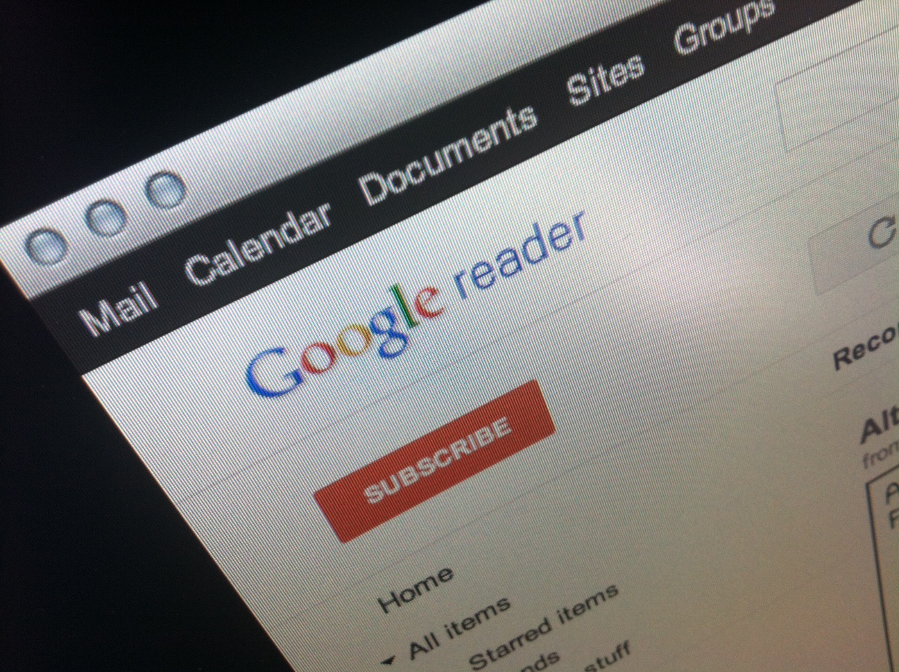 Google Reader not refreshing automatically for you? You're not alone